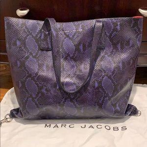 Marc Jacobs Cobalt Snake Leather Handbag